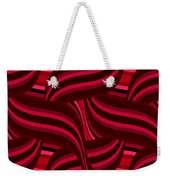 Intertwined Red Abstract Weekender Tote Bag