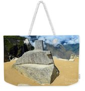 Inti Watana Stone Calendar At Machu Picchu Weekender Tote Bag
