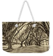 Into The Deep South - Paint 2 Sepia Weekender Tote Bag