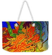 Into The Flames Of Hell Weekender Tote Bag