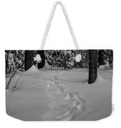 Into The Woods Pisgah Forest Black And White Weekender Tote Bag