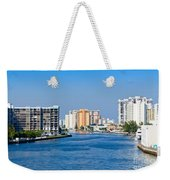 Intracoastal Waterway In Hollywood Florida Weekender Tote Bag