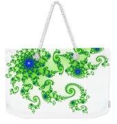 Intricate Green Blue Fractal Based On Julia Set Weekender Tote Bag