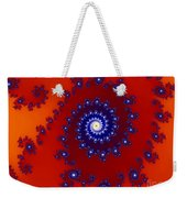 Intricate Red Blue Fractal Based On Julia Set Weekender Tote Bag