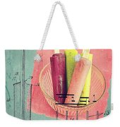 Invention Of The Ice Pop Weekender Tote Bag by Edward Fielding