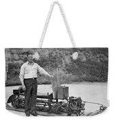 Inventor Of First Snowmobile Weekender Tote Bag