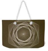 Inverted Energy Spiral Weekender Tote Bag