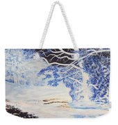 Inverted Lights At Trawscoed Aberystwyth Welsh Landscape Abstract Art Weekender Tote Bag