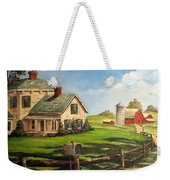 Cherokee Iowa Farm House Weekender Tote Bag
