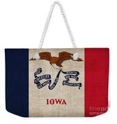 Iowa State Flag Weekender Tote Bag by Pixel Chimp