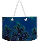 Iphone Case  Midnight Blue Frost Crystals Fractal Weekender Tote Bag