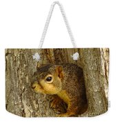 iPhone Squirrel In A Hole Weekender Tote Bag