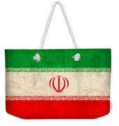 Iran Flag Vintage Distressed Finish Weekender Tote Bag