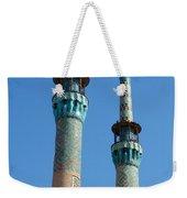 Iran Yazd Mosque Spires  Weekender Tote Bag