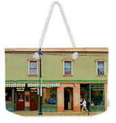 Irenes's Pub And Ernesto's Barber Shop Bank St Shops In The Glebe Paintings Of Ottawa Cspandau  Weekender Tote Bag