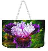 Iridescent Iris Weekender Tote Bag