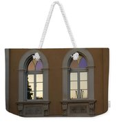 Iridescent Pastels At Sunset - Syracuse Arched Windows Weekender Tote Bag