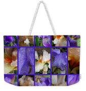 Iris Collage Weekender Tote Bag