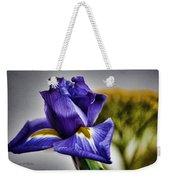 Iris Flower Macro Weekender Tote Bag