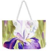 Iris Flower Purple Dance Weekender Tote Bag