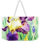 Iris Flowers Garden Weekender Tote Bag