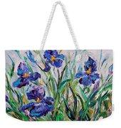 Iris Garden Weekender Tote Bag