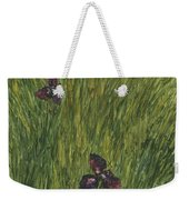 Iris In A Field Weekender Tote Bag