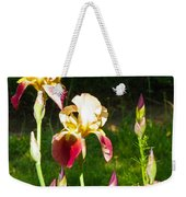 Iris In The Sun Weekender Tote Bag