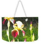 Iris In Watercolor Weekender Tote Bag