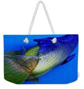 Iris On Blue Weekender Tote Bag