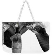Iris Textures In Black And White Weekender Tote Bag