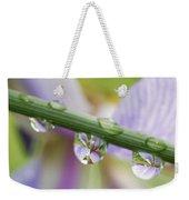 Iris Versicolor Reflection Weekender Tote Bag
