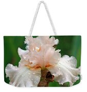 Iris With Dewdrops Weekender Tote Bag