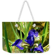 Iris With Frog Weekender Tote Bag