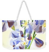 Irises Aglow Weekender Tote Bag by Kip DeVore