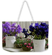 Irises And Impatiens Weekender Tote Bag