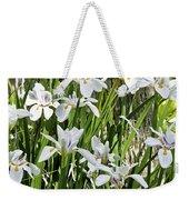 Irises Dancing In The Sun Painted Weekender Tote Bag