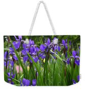 Irises In Spring Weekender Tote Bag