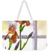 Irises In The Window Weekender Tote Bag