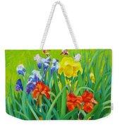 Irises On The West Lawn 1 Weekender Tote Bag