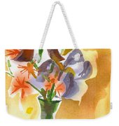 Irises With Stars Of Bethlehem Weekender Tote Bag by Kip DeVore
