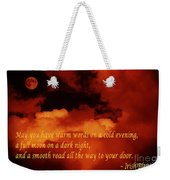 Irish Blessing On Orange Clouds And Full Moon Weekender Tote Bag