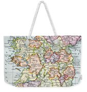 Irish Free State And Northern Ireland From Bacon S Excelsior Atlas Of The World Weekender Tote Bag