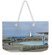 Irish Sea Lighthouse On Pier Weekender Tote Bag