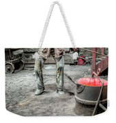 Iron And Brass Foundry Weekender Tote Bag by Adrian Evans