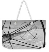 Irrigation Pipe In Winter Weekender Tote Bag