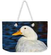 Is There A Feather On My Nose Weekender Tote Bag