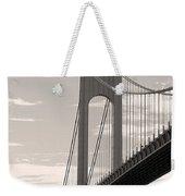 Island Bridge Bw Weekender Tote Bag