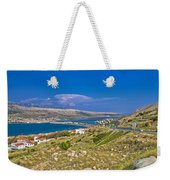 Island Of Pag Aerial Bay View Weekender Tote Bag