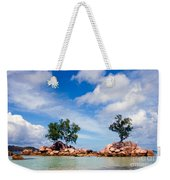 Islands And Clouds, The Seychelles Weekender Tote Bag